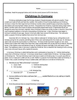 QUIZ:  Christmas in Germany (Editable)