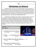 QUIZ: Christmas in Greece (Editable)