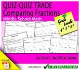 QUIZ-QUIZ TRADE Comparing Fractions