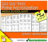 QUIZ-QUIZ TRADE Prime Factorization