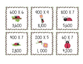 MULTIPLYING TENS & HUNDREDS Quiz Quiz Trade Game