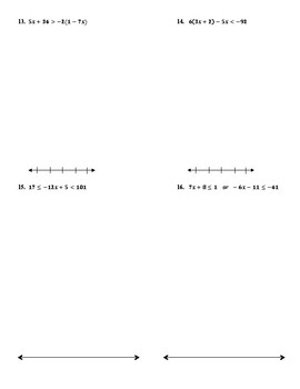 QUIZ: Solving & Graphing Inequalities in One Variable