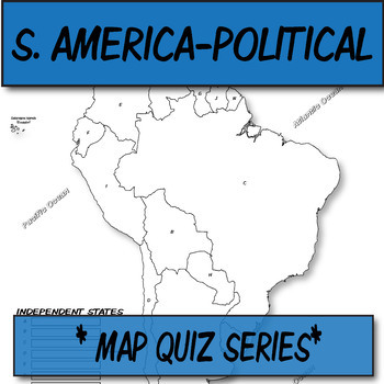 QUIZ South America Political Map **Coloring Book Series**