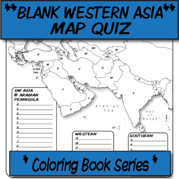 QUIZ Western Asia Political Map **Coloring Book Series**