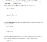QUIZ: Writing Linear Equations Point-Slope, Standard, & Sl