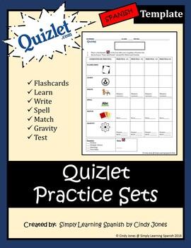 """QUIZLET """"Practice Sets"""" TEMPLATE"""
