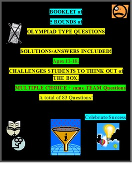 QUIZZES Olympiad Type Questions Booklet of 5 Rounds with Solutions