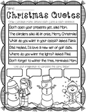 QUOTATIONS AND QUOTATION MARKS AND SPEECH BUBBLES WINTER CHRISTMAS HOLIDAY THEME