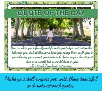 Bell Ringers for Teens. 40 Motivational Quotes.