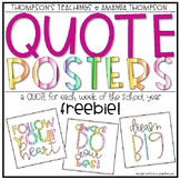 QUOTE POSTERS Classroom Decor FREEBIE- COLOR COLLECTION