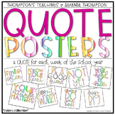 QUOTE POSTERS Classroom Decor and Weekly Program