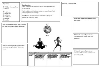 QWC Writing Frame - Balanced Diet and Exercise