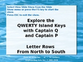 QWERTY Island Keys Lesson 3 - Letter rows from North to South