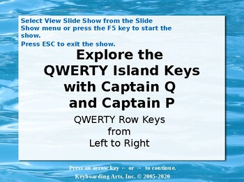 QWERTY Island Keys Lesson 4 - Explore the top row of letter keys