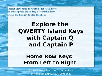 QWERTY Island Keys Lesson 5