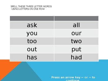 QWERTY Island Keys Spelling or Vocabulary Lists