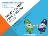 QWERTY Island Keys - Vocabulary/Spelling Test Prep