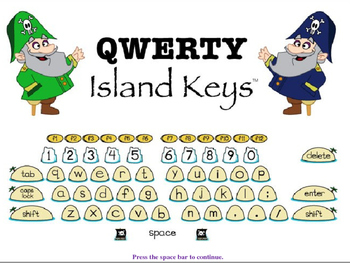 QWERTY Island Keys Word Wall Words part 2