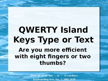 QWERTY Island Keys Text or Type?