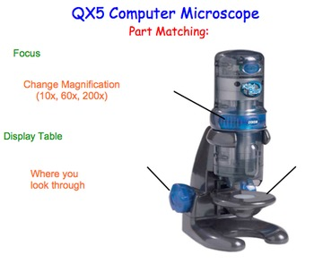 QX5 Computer Microscope Introduction - Lesson Presentation & Lab Experiment