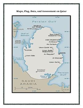 Qatar Geography Maps, Flag, Data, Assessment - Map Skills Data Analysis
