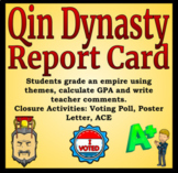 Qin Dynasty Report Card Activity - Differentiated Reading - Distance