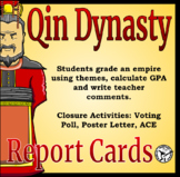 Qin Dynasty Report Card Activity - Differentiated Reading