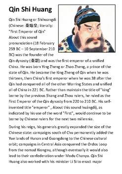 Qin Shi Huang Handout