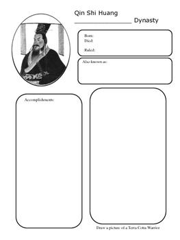 Qin Shi Huang Interactive Notbook Page