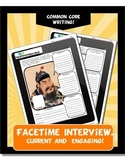 Ancient China FaceTime Interview Activity Worksheets
