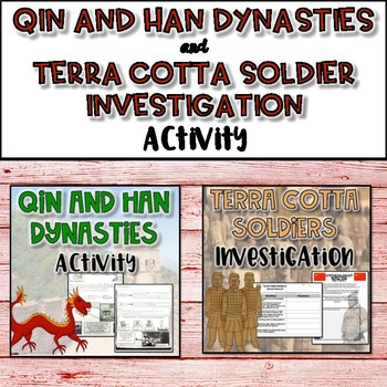 Qin and Han Dynasties AND Terra Cotta Soldier Investigation Bundle