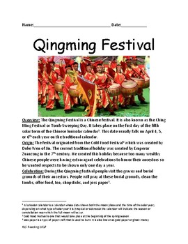 QingMing Festival - Chinese Holiday - review article, facts, information lesson