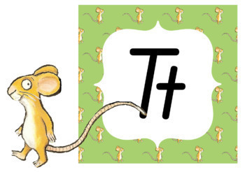 Alphabet Classroom Decor Posters (Aa to Zz) - The Gruffalo Theme, Qld Beginners