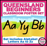 Alphabet Classroom Decor Posters (Aa to Zz) - Wizard of Oz Theme, Qld Beginners