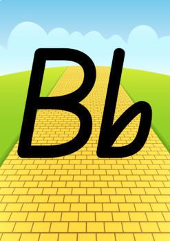 Alphabet Classroom Decor Posters (Aa to Zz) - Wizard of Oz Theme, Qld Beginners