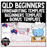 Queensland Beginners Handwriting Templates - Version2
