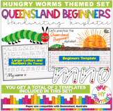 Queensland Beginners Handwriting Template, The Very Hungry Caterpillar Theme,Qld