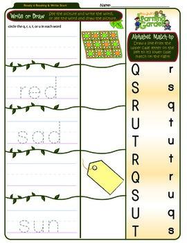 Qq, Rr, Ss, Tt & Uu Worksheet 2