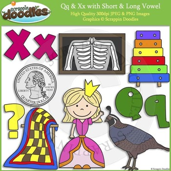 Q & X Short and Long Vowel
