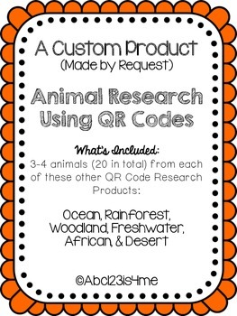 Qr Code Animal Research Custom Product for Mallory
