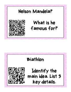 Qr Code Writing and Reading Centers!