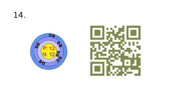 Qr Codes Atoms, Subatomic Particles, and Element Identity plus student page