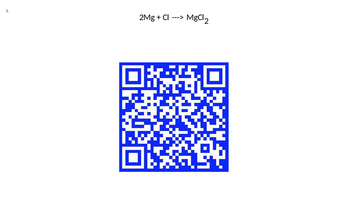 QR Codes Chemical Equations, Reactions, Physical Propertie