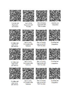 Qr Codes- Equations
