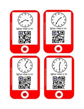 QR Codes Telling Time - 5 Minute Increments