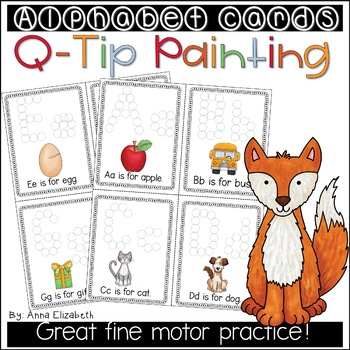 Qtip Alphabet Painting Cards