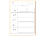 Qu Digraph Read, Draw and Write