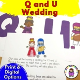 Q and U Wedding and other Letter Q Worksheets & Activities for Kindergarten