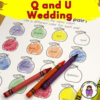 Q and U Wedding Invitations, Vows, Activities and Crowns: Fun Letter Q Worksheet