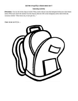 Qu'est-ce qu'il y a dans mon sac ?